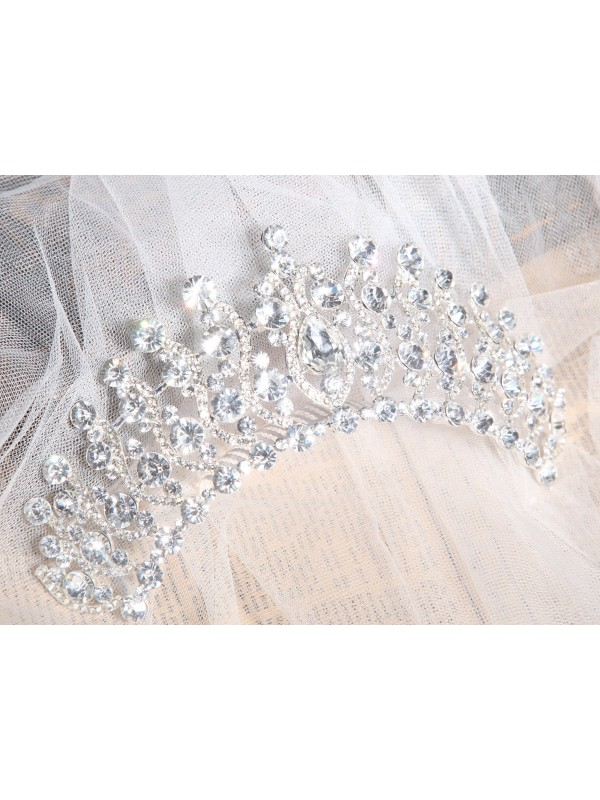 Elegant Alloy Clear Cristals Wedding Party Headpiece