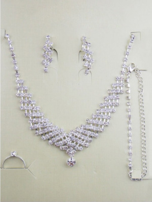Gorgeous Alloy With Estrás Wedding Bridal Escote Joyary Set