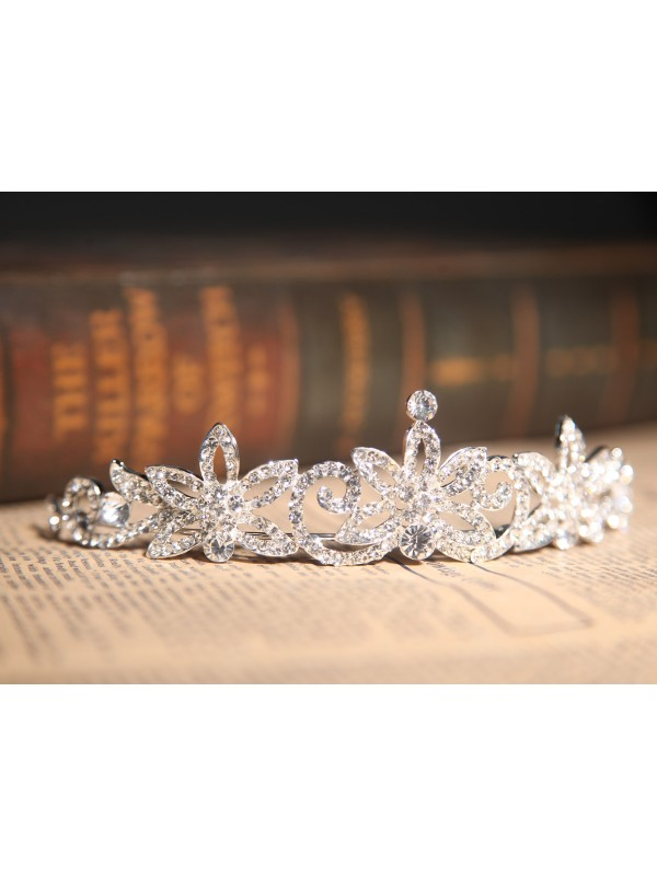 Gorgeous Clear Cristals Flower Wedding Party Headpiece