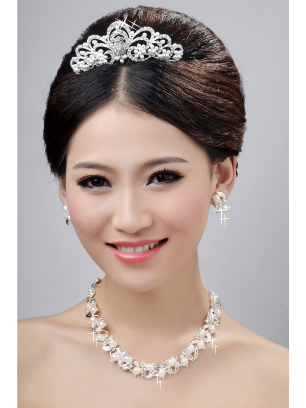 New Style Nice Alloy Clear Cristals Wedding Party Earrings Set