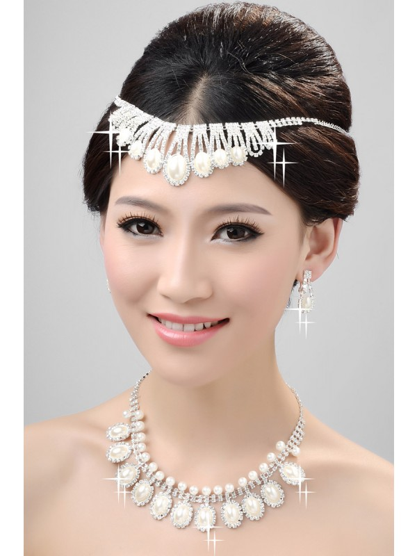 Nice Alloy Clear Cristals Wedding Party Earrings Set
