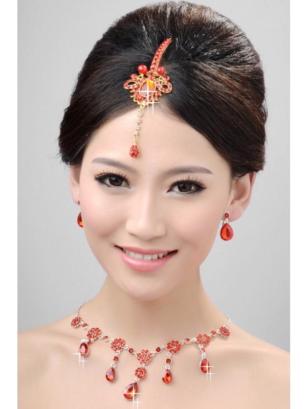 Nice Alloy Cristals Wedding Party Earrings Set