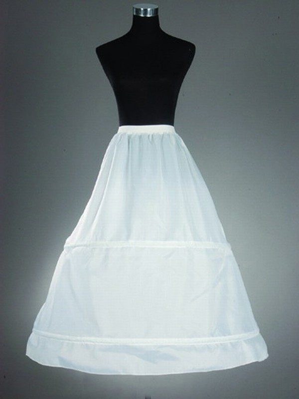 Nylon Corte A 1 Tier Floor Length Slip Style Wedding Petticoat