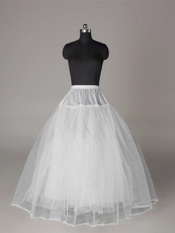 Tul Rojoting Ball-Gown 3 Tier Floor Length Slip Style Wedding Petticoat
