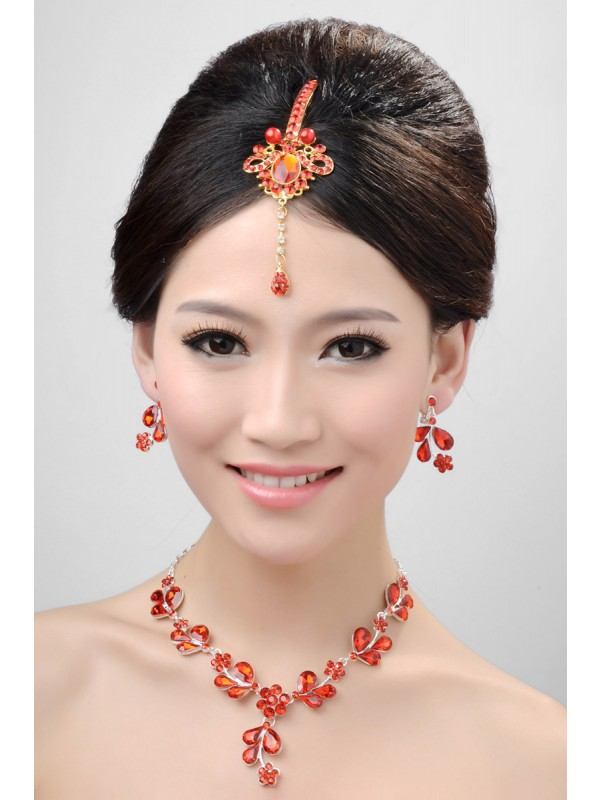 Awesome Alloy Cristals Wedding Party Earrings Set