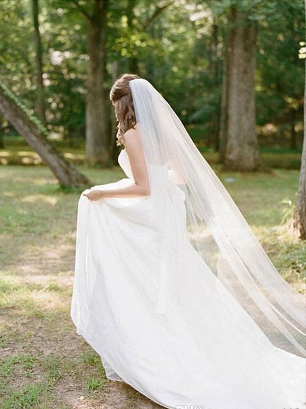 Elegant Tul Long Wedding Veils
