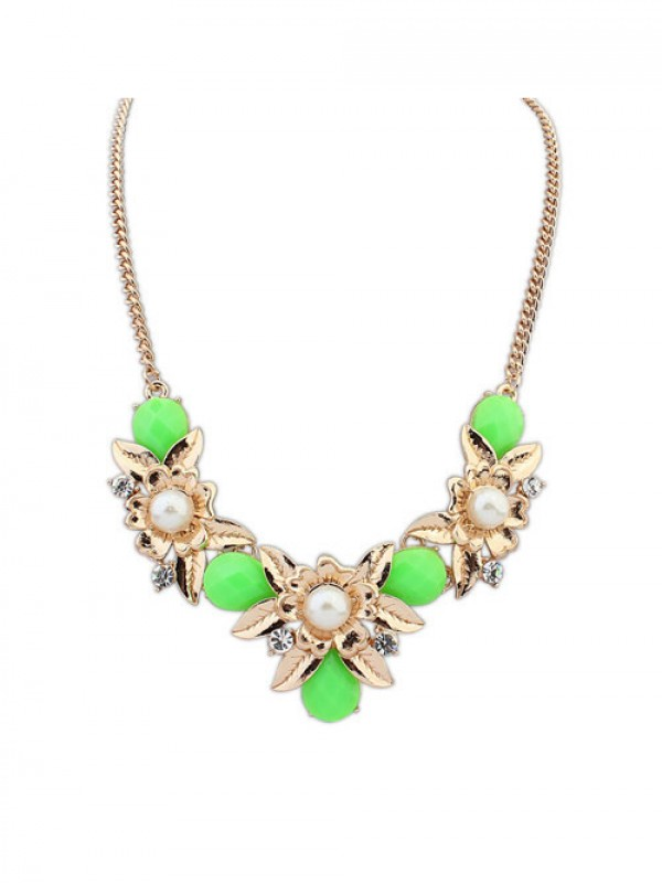 Occident Bohemia Geometry Flowers Fashion Necklace