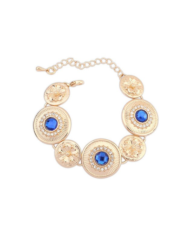 Occident Fashionable Popular Round Plate Fashion Bracelets