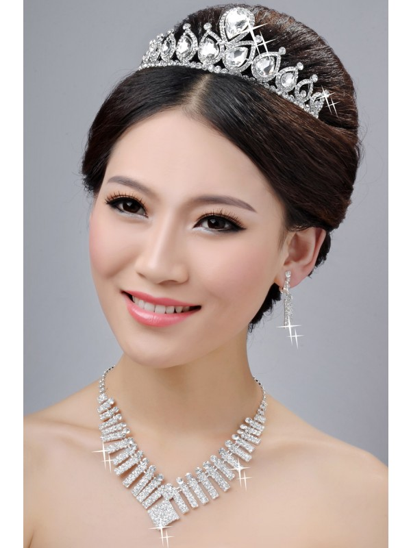 New Style Alloy Clear Cristals Wedding Party Earrings Set