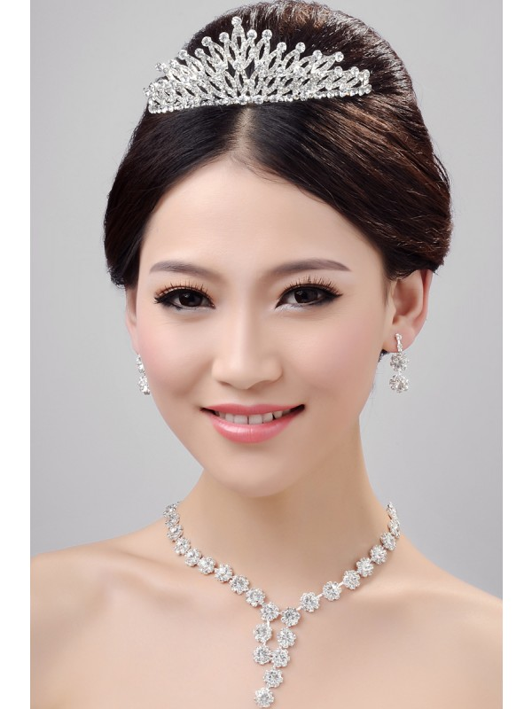 Stunning Alloy Clear Cristals Wedding Party Earrings Set