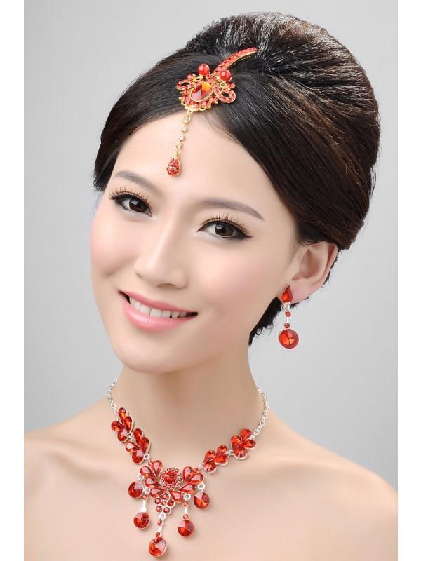 Stunning Alloy Cristals Wedding Party Earrings Set